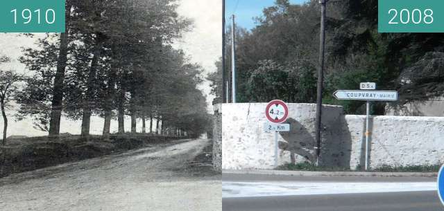 Before-and-after picture of la tourelle between 1910 and 2008-Apr-26