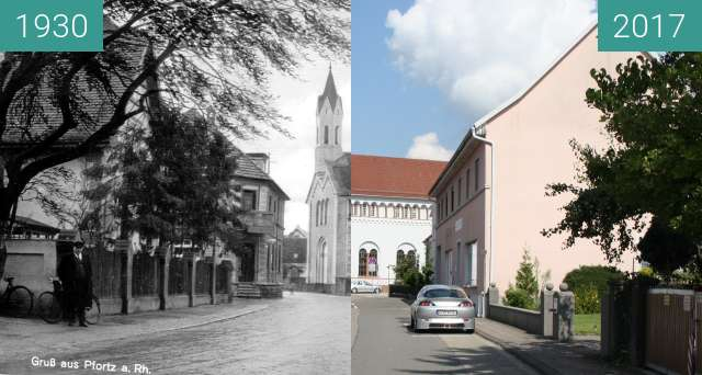 Before-and-after picture of Cany-Barville-Straße 17, 76744 Maximiliansau between 1930 and 2017-Sep-03