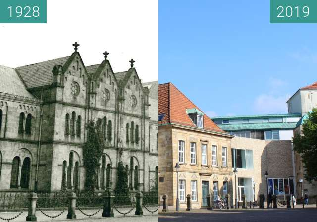 Before-and-after picture of Dom 1928 between 1928 and 2019-Jun-12
