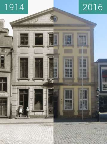 Before-and-after picture of Löwenapotheke, market square between 1914 and 2016-Aug-31
