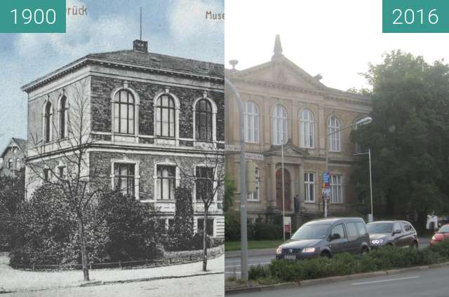 Before-and-after picture of Museum between 1900 and 2016-Sep-01