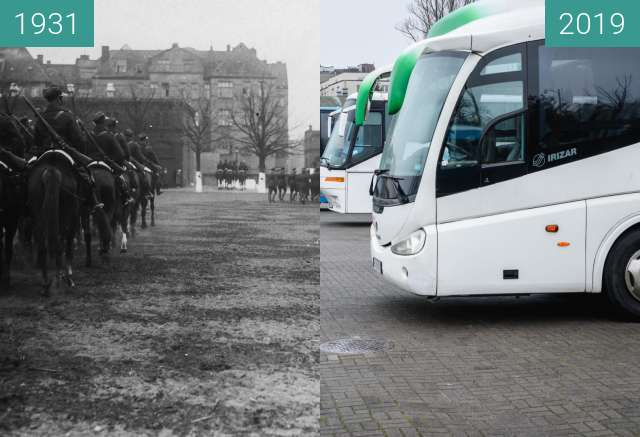 Before-and-after picture of Ulica Ułańska between 04/1931 and 2019-Jan-12