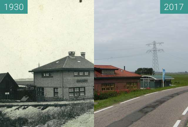 Before-and-after picture of Pumping station Juliana between 1930-Jul-01 and 2017-Jul-01