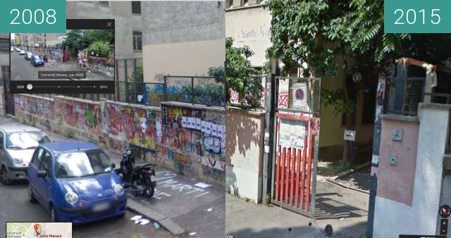 Before-and-after picture of Liceo Luciano Manara in Rome, 2008 - 2015 between 06/2008 and 07/2015