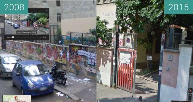 Vorher-Nachher-Bild von Liceo Luciano Manara in Rome, 2008 - 2015 zwischen 06.2008 und 07.2015