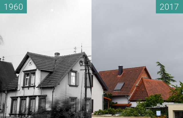 Before-and-after picture of House in Schifferstadt between 1960 and 2017-Aug-05
