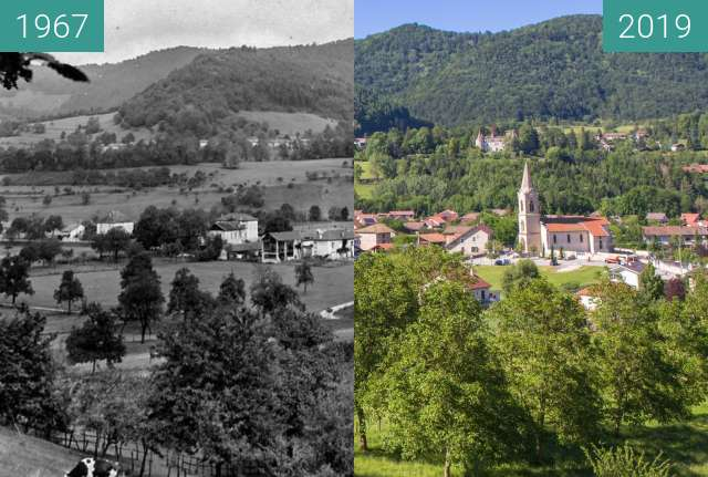 Before-and-after picture of Le Village - Vue générale depuis le Bourdis between 1967 and 2019-Jun-13