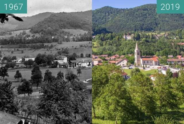 Before-and-after picture of Le Village - Vue générale depuis le Bourdis between 1967 and 2019-Jun-13