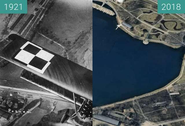 Before-and-after picture of Luneta Aster w kadrze z filmu Gwiaździsta Eskadra between 1921-May-11 and 2018