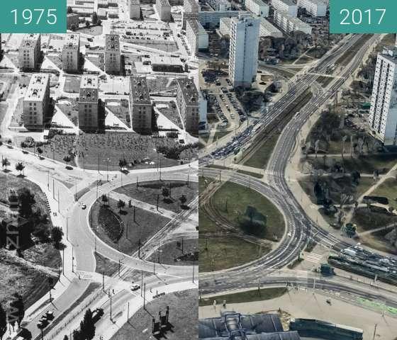 Vorher-Nachher-Bild von Rondo Rataje zwischen 1975 und 2017