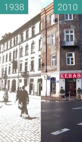 Before-and-after picture of Chmielna 126 between 1938 and 2010