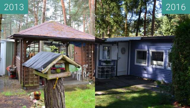 Before-and-after picture of Hütte between 2013-Apr-27 and 2016-Aug-17