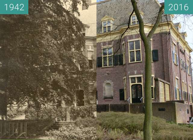 Before-and-after picture of Hoofdkwartier Wehrmacht between 1942 and 2016