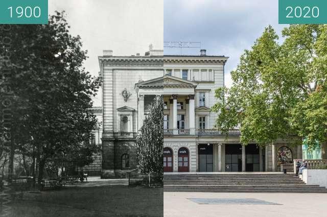 Vorher-Nachher-Bild von Plac Wolności zwischen 1900 und 14.05.2020