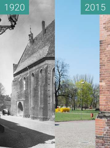 Before-and-after picture of Anna Kapelle between 1920 and 2015