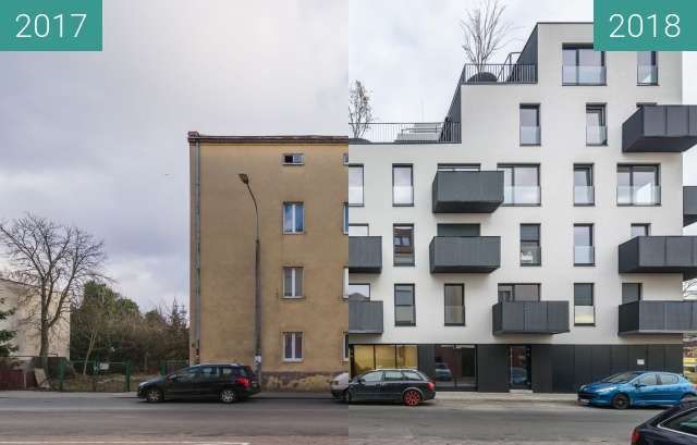 Before-and-after picture of Ulica Sokoła / Maczka between 2017-Jan-06 and 2018-Nov-12