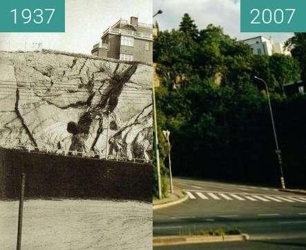 Before-and-after picture of Barrandov between 1937 and 2007
