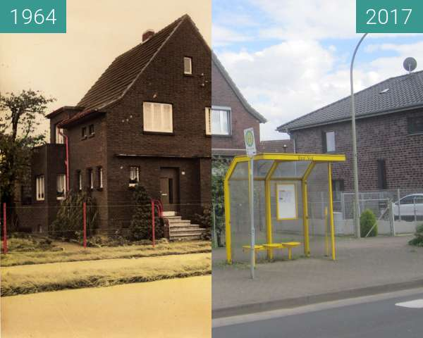 Before-and-after picture of Haus Lamersdorf between 1964 and 2017-May-20