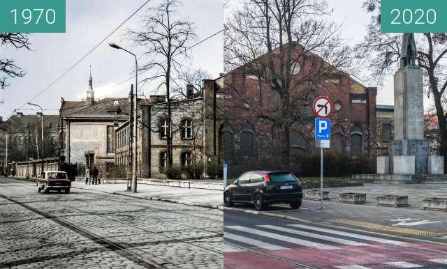 Vorher-Nachher-Bild von Ulica Grunwaldzka zwischen 1970 und 2020
