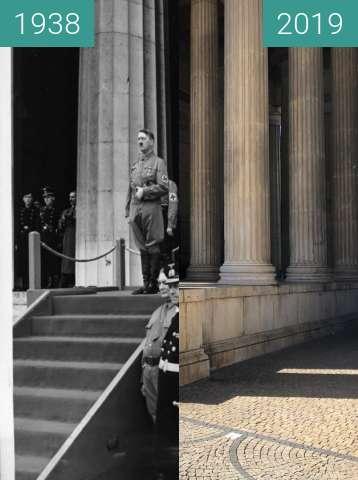 Vorher-Nachher-Bild von Hitler am Königsplatz, 9.11.1938 (2) zwischen 09.11.1938 und 04.09.2019