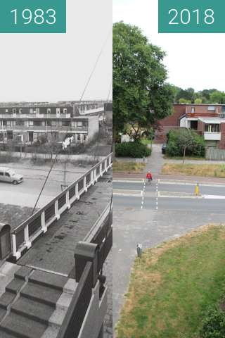 Before-and-after picture of Bridge over the Schinkelwaard between 1983 and 2018-Jul-11