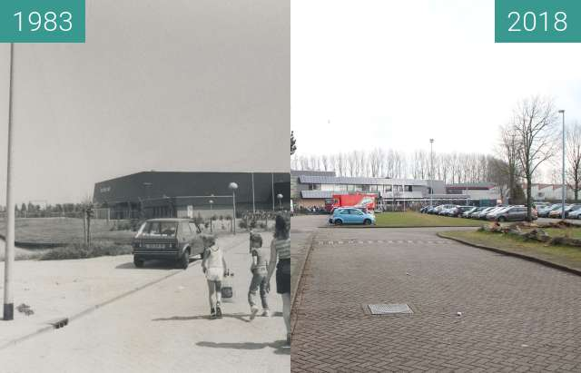 Before-and-after picture of Pool De Hoornse Vaart between 1983 and 2018-Mar-29