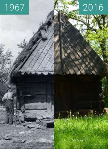 Before-and-after picture of Spichlerz ze Sternalic between 1967 and 2016-May-11