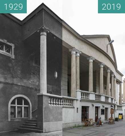 Before-and-after picture of Ulica Ratajczaka, kino Apollo between 1929 and 2019-May-23
