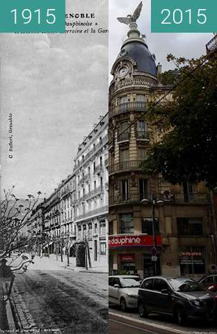 Before-and-after picture of Grenoble | La Coupole Dauphinoise  between 1915 and 2015