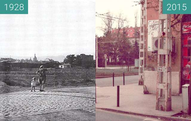 Before-and-after picture of Budapest between 1928 and 2015