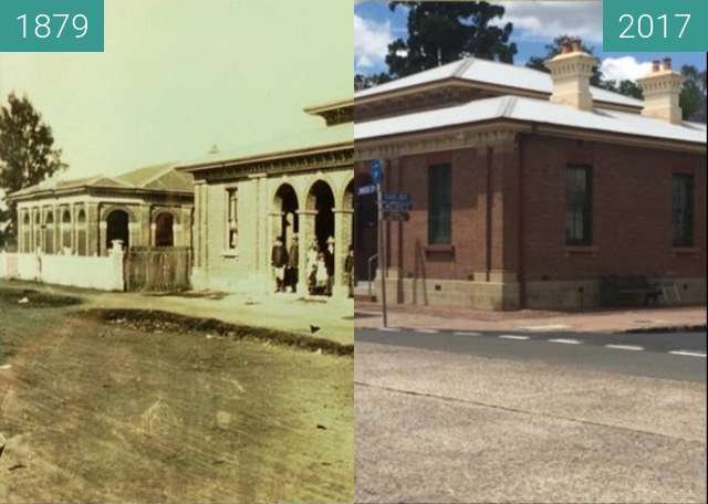 Before-and-after picture of Richmond Court House between 1879 and 2017
