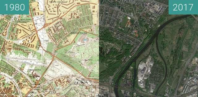 Vorher-Nachher-Bild von Poznań 1980 - Cytadela zwischen 1980 und 12.05.2017