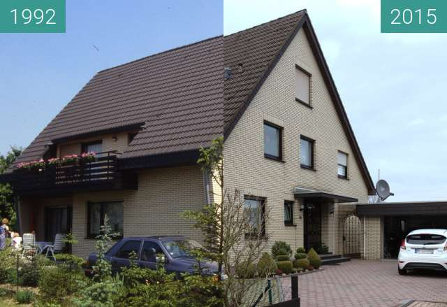 Before-and-after picture of House between 1992 and 2015-Dec-06