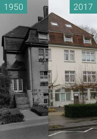 Before-and-after picture of Provinzialkinderheim Bad Waldliesborn between 1950 and 2017-Dec-14