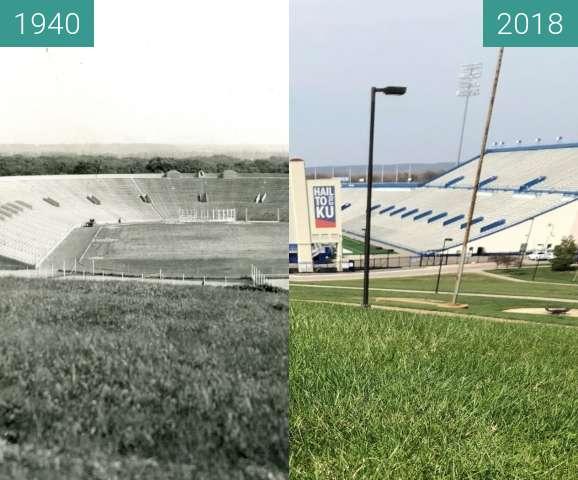 Vorher-Nachher-Bild von Overlook of Memorial Stadium zwischen 1940 und 19.04.2018