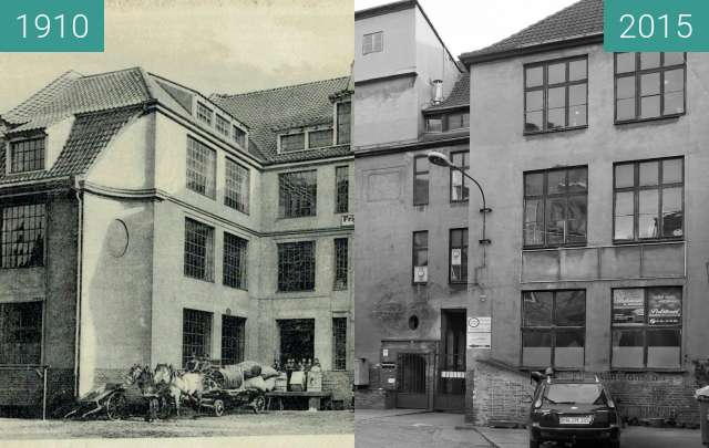 Before-and-after picture of Geschäftsgebäude between 1910 and 2015-Feb-09