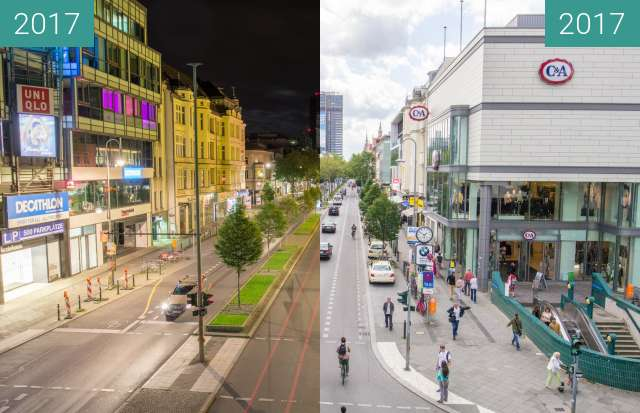 Before-and-after picture of Schlossstraße, Berlin between 2017-Aug-06 and 2017-Aug-19