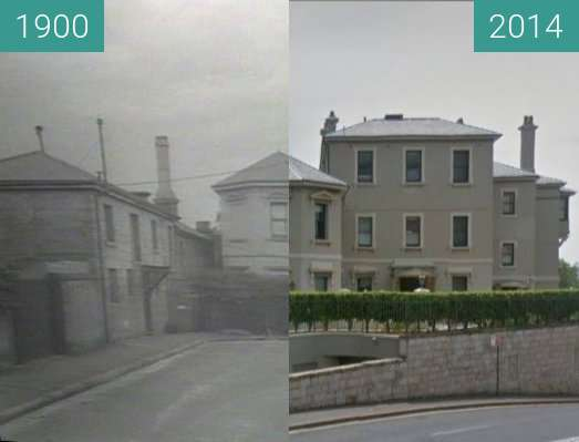 Before-and-after picture of 'Tarana', Wylde Street, Potts Point between 1900 and 2014