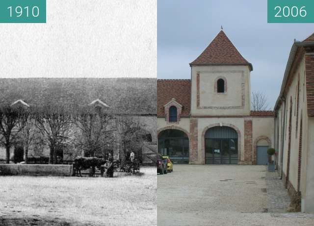Before-and-after picture of ferme Mauny between 1910 and 2006-Mar-03