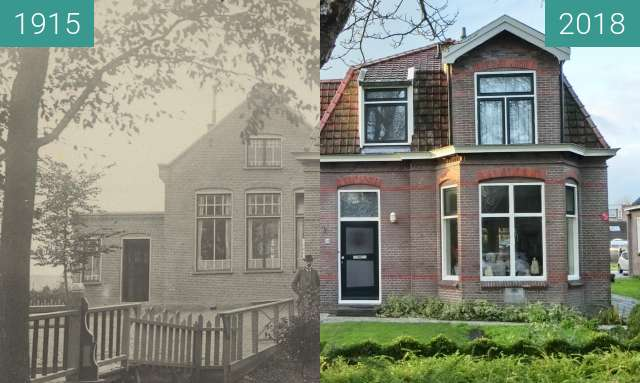 Before-and-after picture of Stationsweg Heerhugowaard between 1915 and 2018-Dec-10