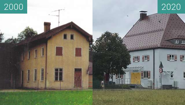Before-and-after picture of Cafe Weinmüller und deutsche Post in Siegsdorf between 2000 and 2020-Oct-11