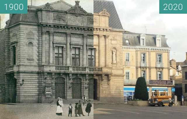 Before-and-after picture of Saint-Brieuc - Place de la Résistance between 1900 and 2020-Nov-11