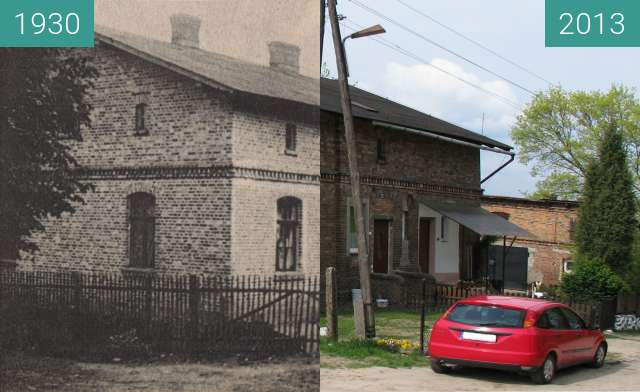 Before-and-after picture of Old inspectorate in Lutomek between 1930 and 2013