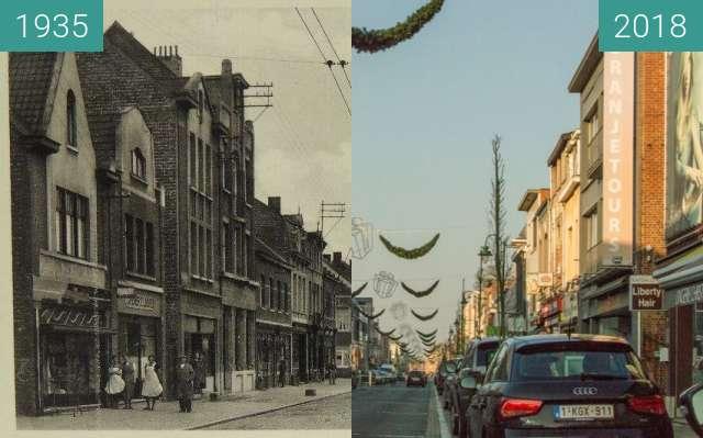 Before-and-after picture of Bergstraat Heist-op-den-berg between 1935 and 2018-Jan-14