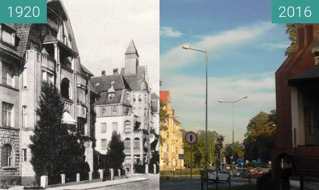 Before-and-after picture of Leopoldring between 1920 and 2016