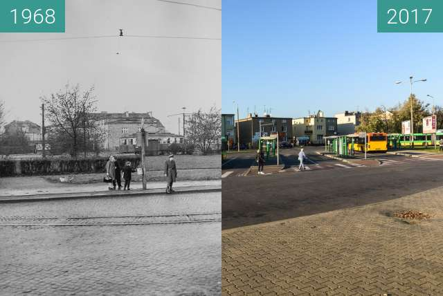 Before-and-after picture of Ulica Głogowska  between 1968-Aug-06 and 2017-Oct-06
