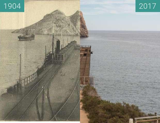 Vorher-Nachher-Bild von The Embarcadero de Mineral el Hornillo zwischen 1904 und 14.02.2017
