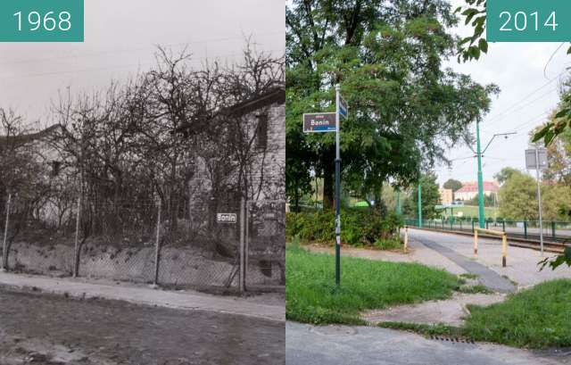 Before-and-after picture of Ulica Bonin between 1968-Aug-06 and 2014-Aug-06