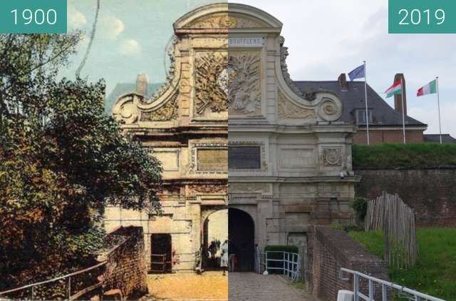 Before-and-after picture of Citadel of Lille between 1900 and 2019-Apr-06