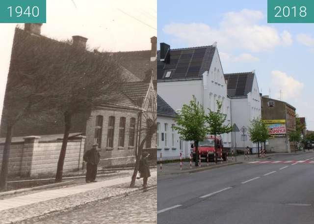 Before-and-after picture of Szkoła Podstawowa im.Marii Konopnickiej w Wągrowcu between 1940 and 2018